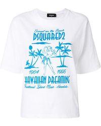DSquared²   Hawaiian Dreaming Print T-shirt   Lyst