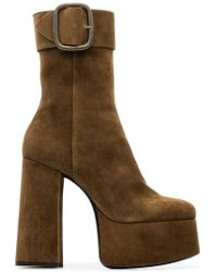 Saint Laurent - Billy 85 Suede Ankle Boots - Lyst