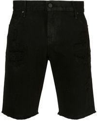 RTA Coated Ripped Shorts