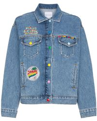 Mira Mikati - Venice Beach Patch Denim Jacket - Lyst