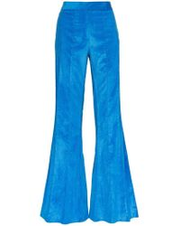 Rosie Assoulin - Corduroy Pleated Flare Trousers - Lyst