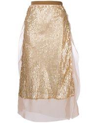 Sacai - Sequin Embellished Skirt - Lyst