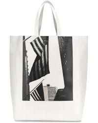 dd6ec3acc9ff CALVIN KLEIN 205W39NYC - X Andy Warhol American Flag Tote Bag - Lyst