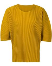 Homme Plissé Issey Miyake - Pleated Oversized T-shirt - Lyst
