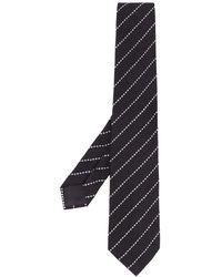Giorgio Armani Cravate rayée - Noir