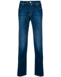 Jacob Cohen - Straight Stonewashed Jeans - Lyst