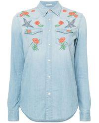 Mother - Embroidered Denim Shirt - Lyst