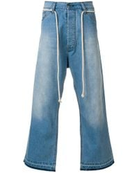 Societe Anonyme - Giant Cropped Jeans - Lyst