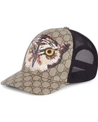 a619ace9300 Gucci Gg Supreme Angry Cat Baseball Cap in Black for Men - Lyst