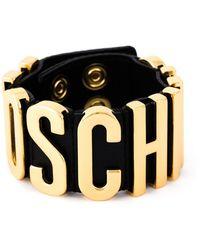 Moschino - Logo Plaque Cuff - Lyst