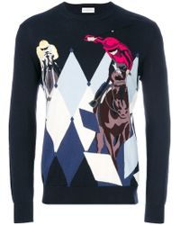 Ballantyne - Argyle And Polo Player Knit Sweater - Lyst
