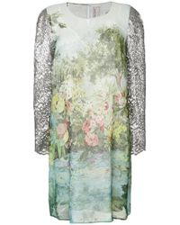 Antonio Marras - Floral Fitted Shift Dress - Lyst