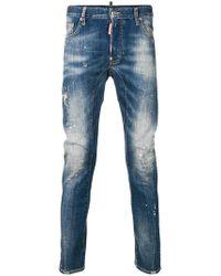 DSquared² - Schmale Jeans mit ausgeblichenem Effekt - Lyst
