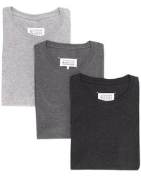Maison Margiela - Pack Of 3 Stereotype T-shirts - Lyst