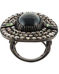 Monan Кольцо С Центральным Камнем И Бриллиантами - Многоцветный