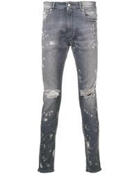 Represent - Distressed Skinny Jeans - Lyst