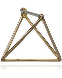 Shihara - 20mm Triangle Earring - Lyst