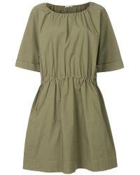 Barena - Gathered Waist Shift Dress - Lyst