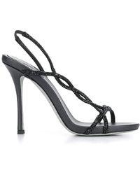 d1a212e12 Rene Caovilla Treccia Embellished Slingback Stiletto Sandals in ...