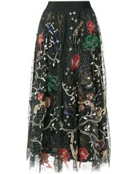 Amen - Sequin Pattern Embroidered Midi Skirt - Lyst
