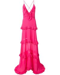 Nicole Miller - Tiered Ruffle Gown - Lyst