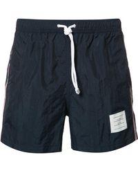 Thom Browne - Side Stripe Swim Shorts - Lyst