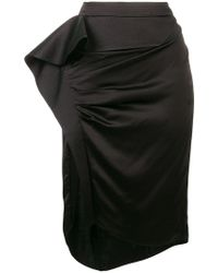 Givenchy - Asymmetric Draped Skirt - Lyst