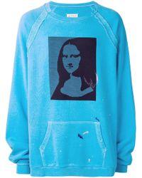 Maison Margiela - Mona Lisa Print Sweatshirt - Lyst