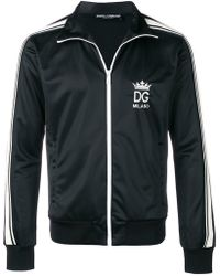 Dolce & Gabbana - Logo Embroidered Sports Jacket - Lyst