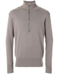 S.N.S Herning - Zip-up Fitted Sweatshirt - Lyst