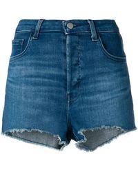 J Brand - Frayed Edges Denim Shorts - Lyst