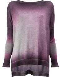 Avant Toi - Washed Effect Knitted Top - Lyst