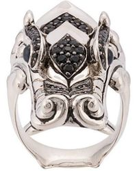 John Hardy - Silver And Mixed Stone Legends Naga Ring - Lyst