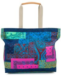 Etro - Mixed Paisley Patchwork Tote - Lyst