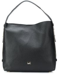 de664e116be5a Lyst - MICHAEL Michael Kors Quilted Shoulder Bag in Black