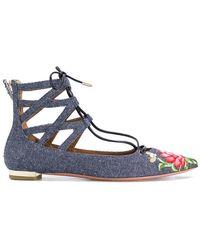 Aquazzura - Belgravia Ballerina Shoes - Lyst