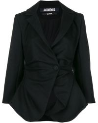 Jacquemus - Asymmetric Gathered Jacket - Lyst