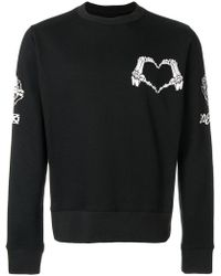 KTZ - Skeleton Heart Print Sweatshirt - Lyst