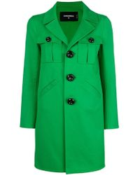 DSquared² - Single Breasted Peacoat - Lyst