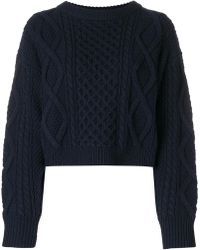 3.1 Phillip Lim - Cropped Cable-knit Jumper - Lyst