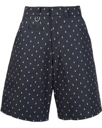 Undercover - Printed Knee Length Shorts - Lyst