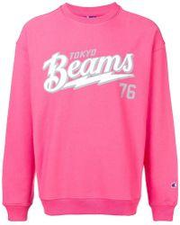 dd374c8090f6 Champion - Beams Print Sweatpants - Men - Cotton polyester - L in ...