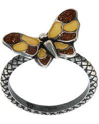 Bottega Veneta - Butterfly Intrecciato Ring - Lyst