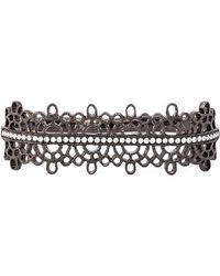 Joelle Jewellery | Diamond Detail Filigree Double Ring | Lyst