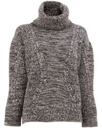 Maison Ullens - Roll Neck Cable Knit Jumper - Lyst