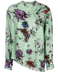 Each x Other - Floral Print Asymmetric Blouse - Lyst