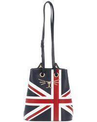 Charlotte Olympia - Union Jack Feline Bucket Bag - Lyst