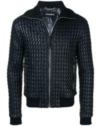 Dolce & Gabbana - Padded Leather Jacket - Lyst