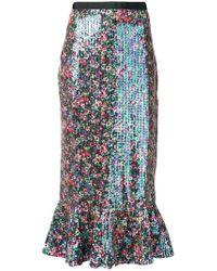 Saloni - Iridescent Sequin Mermaid Skirt - Lyst