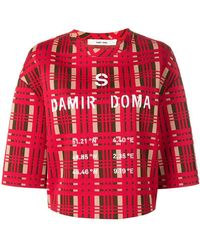 Damir Doma - X Lotto Logo Tartan Short-sleeve Top - Lyst